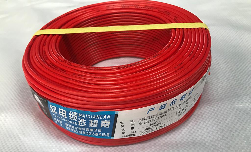 BV4平方铜芯聚氯乙烯绝缘电线